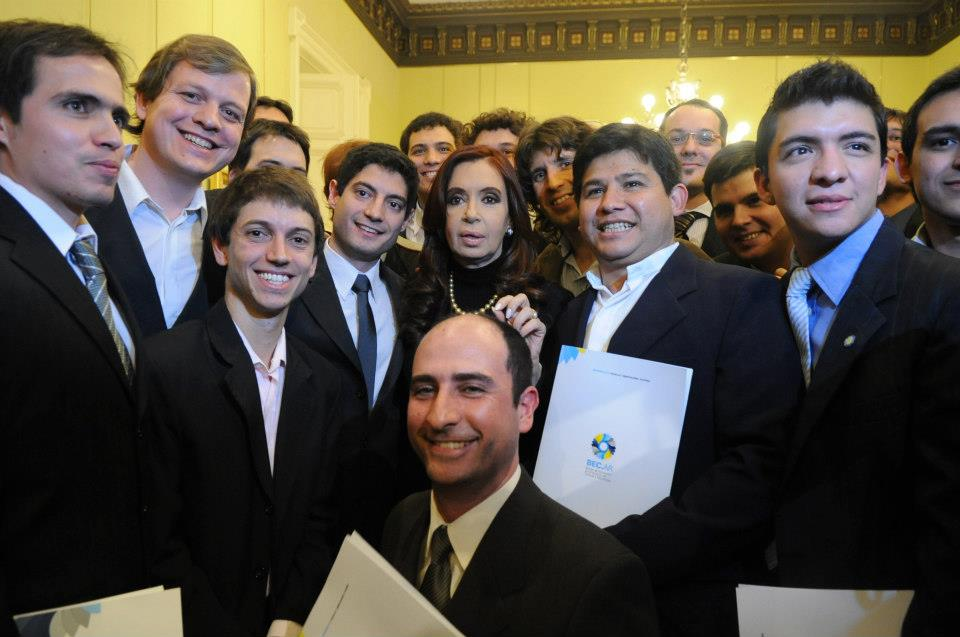 Junto a la Presidenta de la Nación Cristina Fernández de Kirchner